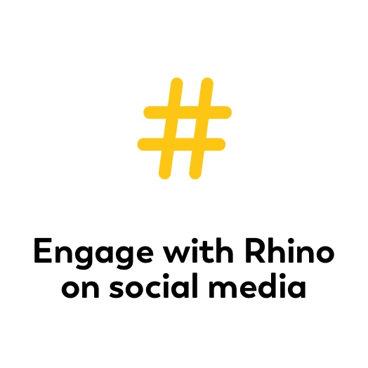 Engage with Rhino on social media